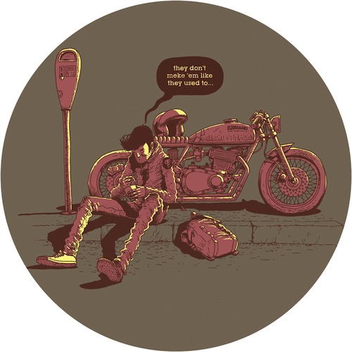 Gerhard Human - Biker illustration